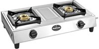 Sunflame shakti ss Stainless Steel Manual Gas Stove  (2 Burners)