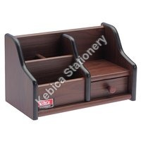 Wood Desk Organizer with Drawer (500)
