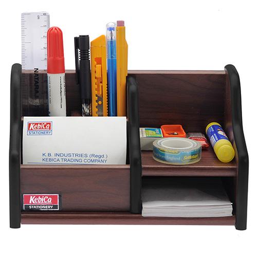 Kebica Wood Desk Organizer with Drawer (500)