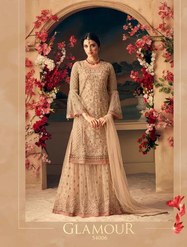 Designer Partywear Sharara Suit
