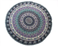 Indian Cotton Mandala Beach Towel  Hippie Roundie Tapestry