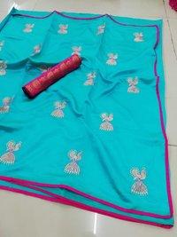 Sana Silk Embroidery Work Saree