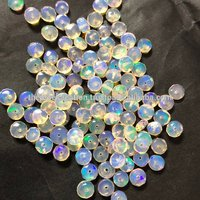 3-5mm Ethiopian Opal Loose Stone Rondelle Gemstone Beads