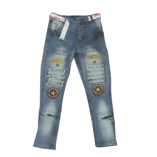 Girls Patch Jeans