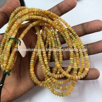 Natural Ethiopian Opal Gemstone Full Fire Beads Strand