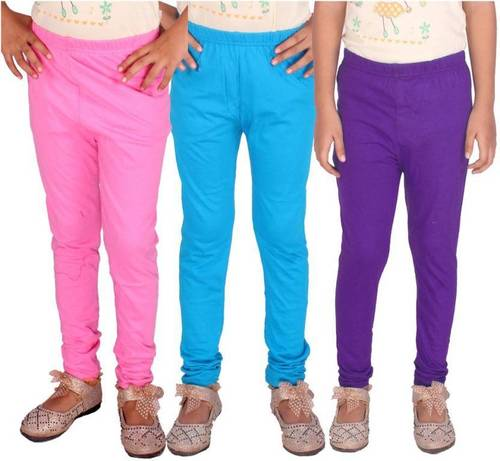Girls Lycra Plain Legging