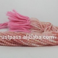 Natural Pink Opal Gemstone Faceted Loose Beads For Jewelry Making