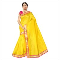 Cotton Plain Border Saree
