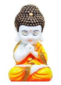 Handcrafted Little Buddha Monk Showpiece Figurine(8 * 4.25 * 3.5 inches)