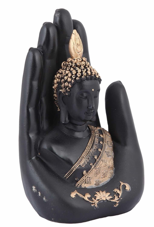 Gautam Buddha Showpiece - 20 cm (Polyresin, Multicolor)