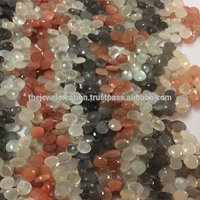 Natural Multi Moonstone Faceted Heart Shape Briolette Wholesale Gemstone Bead