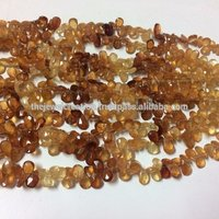 Natural Brown Hassonite Garnet Gemstone Faceted Pear Shape Briolette Bead