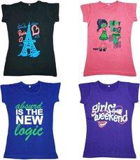 Girls Half Sleeves Top