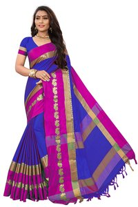 Cotton Lace Border Saree