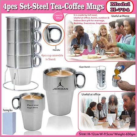 Steel Tea Coffee Mugs