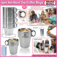 Steel Tea Coffee Mugs