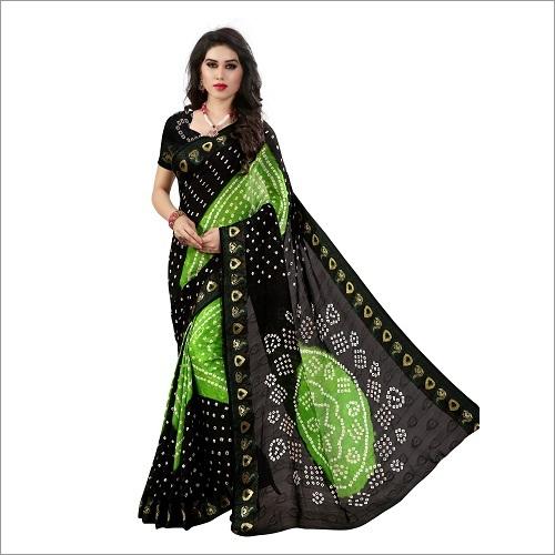 Cotton Bandhani Sraee