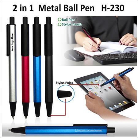 2 in 1 Metal Ball Pen