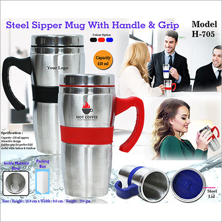 Steel Sipper Mugs