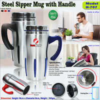 Steel Sipper Mug With Handle