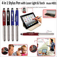 4 in 1 Stylus Pen With Laser Light & Torch