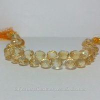 Natural Citrine Gemstone Faceted Onion Teardrop Briolette Beads