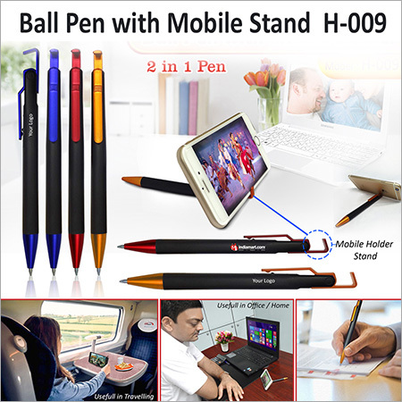 Ball Pen With Mobile Stand