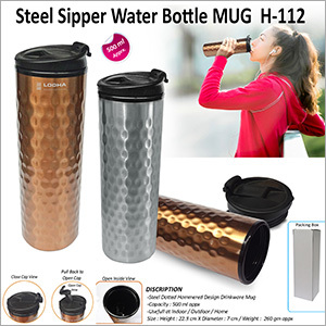 Steel Sipper Water Bottle Mug