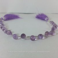 Natural Pink Lavender Amethyst Faceted Drop Beads Strand