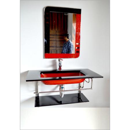 Modern Glass Vanity