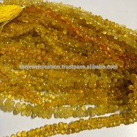 Natural Yellow Sapphire Handmade Drops Briolette Beads