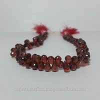 Mozambique Red Garnet Faceted Teardrop Beads Briolette