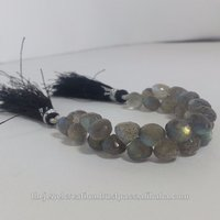 Natural Labradorite Faceted Onion Teardrop Briolette Beads