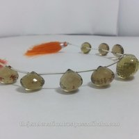 Natural Champagne Quartz Faceted Onion Teardrop Briolette Beads
