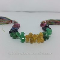 Natural Emerald Ruby Sapphire Teardrop Beads Gemstone Briolette