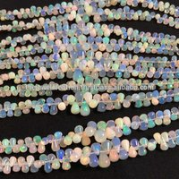 Natural Ethiopian Opal Stone Smooth Drop Shape Beads Briolette