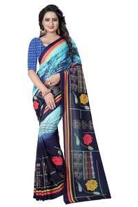 New and Fancy Printed Synthetic Saree