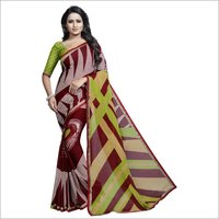 Georgette Saree With Border