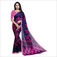 Print Georgette Saree With Lace