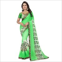 Georgette Saree With Lace Border