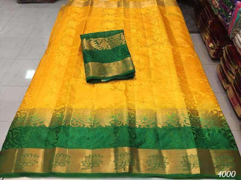 Attractive Design Kanjivaram Silk Saree
