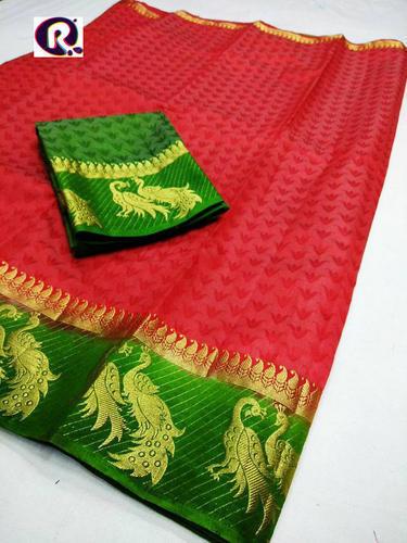 Peacock Design Kanjivaram Silk Saree