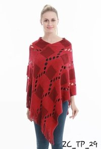 Woolen Winter Poncho Top