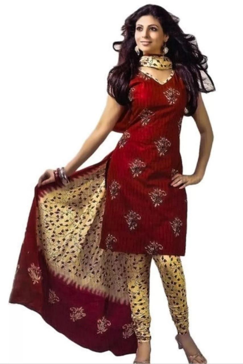LADIES WEAR  PRINTED CREPE DRESS MATERIAL