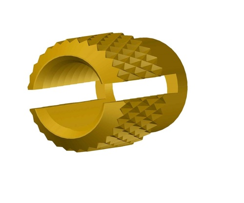 Brass Diamond Knurling Insert