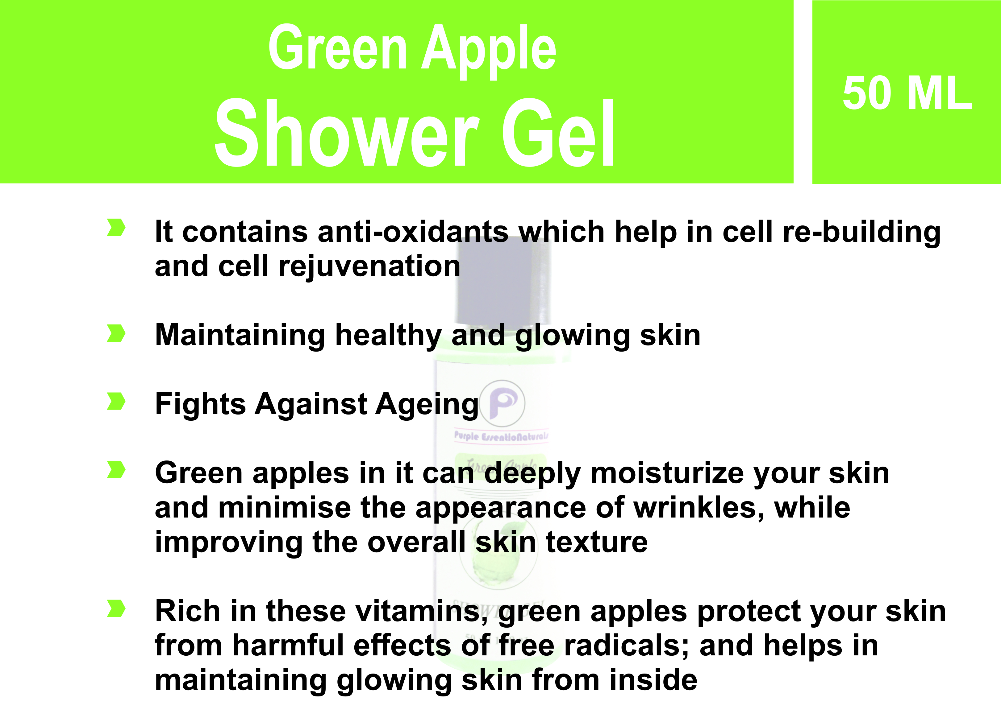 Green Apple shower Gel