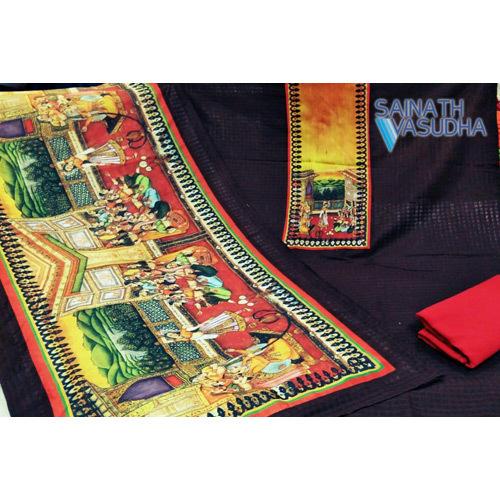 Ladies Suit Printed Silk Fabric