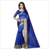 Cotton Designer Silk Saree
