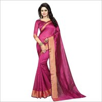 Cotton Plain Silk Saree