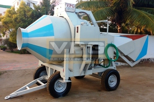 Reversible Bed Type Concrete Mixer